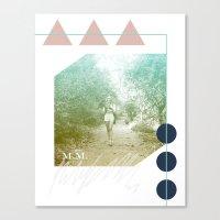M.M. Collage Canvas Print