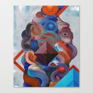 Canvas Print featuring The Making Of Man by Anthony Hurd