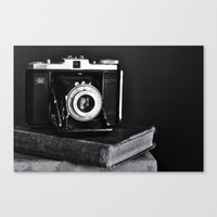 Old Camera, Old Books Canvas Print