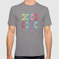 Color-Blocked XOXO Mens Fitted Tee Tri-Grey SMALL