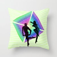 passengers in space Throw Pillow