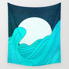 Wall Tapestry - The Moon and the Sea -  Steve Wade ( Swade)