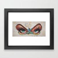 Butterflies Eyes Framed Art Print
