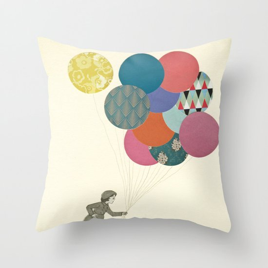 Party Girl Throw Pillow