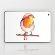 Watercolour Robin in Snow Laptop & iPad Skin