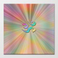 Rainbow Sunburst OM Canvas Print