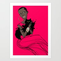 AFRIcat Art Print