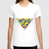 Vibrant Womens Fitted Tee White SMALL