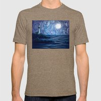 Lighthouse Mens Fitted Tee Tri-Coffee SMALL