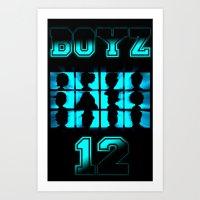 BOYZ 12 Art Print