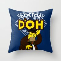 Doctor D'oh Throw Pillow