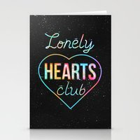 Lonely hearts club Stationery Cards