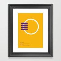 Los Angeles Lakers Geome… Framed Art Print