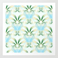 Pineapple Welcome Abstra… Art Print
