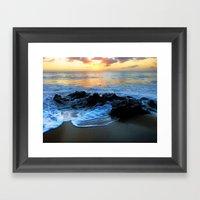 Sunset @ Rincon Framed Art Print