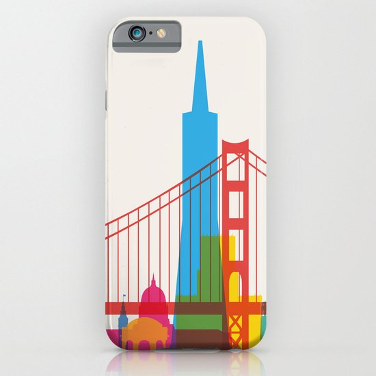 Shapes of San Francisco. Accurate to scale iPhone & iPod Case