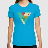 Monster Teeth I Womens Fitted Tee Teal SMALL
