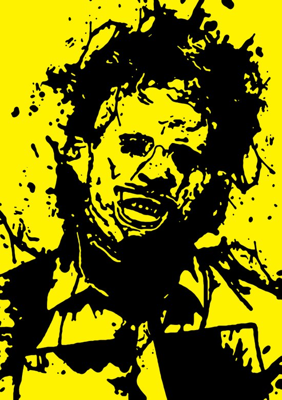 August 18, 1973: Bloodstain Leatherface (color combination N) Art Print