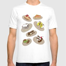 desserts SMALL White Mens Fitted Tee