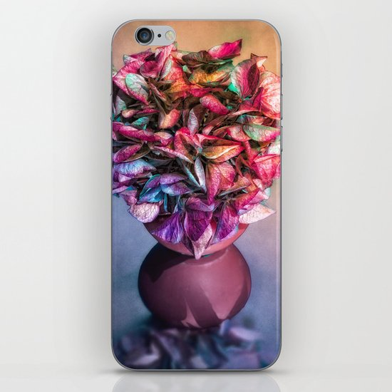 STILL LIFE WITH HYDRANGEA IN A VASE iPhone & iPod Skin