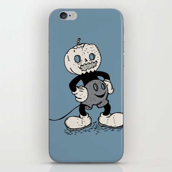 Mickey Pumpkin (desaturated) iPhone & iPod Skin