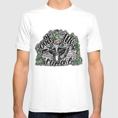 Good Luck  White SMALL Mens Fitted Tee