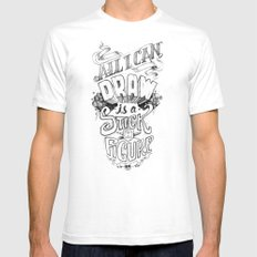 All I Can Draw White Mens Fitted Tee SMALL