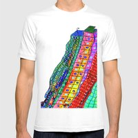 Bright City Mens Fitted Tee White SMALL