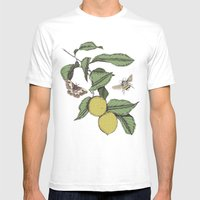 Lemons In Spring Mens Fitted Tee White SMALL