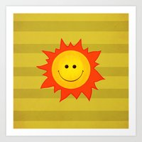 Smiling Happy Sun Art Print