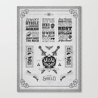 Legend Of Zelda - The Hy… Canvas Print