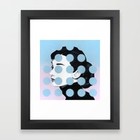 Audrey (Dots) By Famous … Framed Art Print