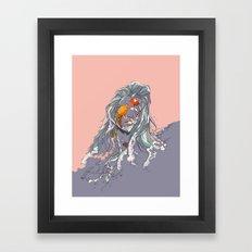 Koi and Raised Framed Art Print