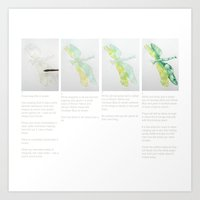 Art Demo on a Cushion - Dragonfly 1 of 3 Art Print