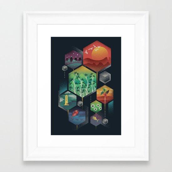 Geometrical Wonders Framed Art Print