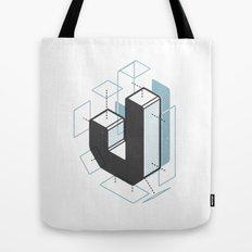 The Exploded Alphabet / J Tote Bag