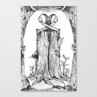 Haunted Clothing- The Et… Canvas Print