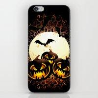 Black Pumpkins Halloween Night iPhone & iPod Skin