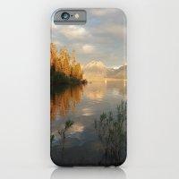 Sunrise on Jackson Lake, Grand Teton National Park iPhone 6 Slim Case