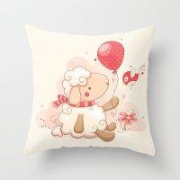 Sheep & Balloon Throw Pillow