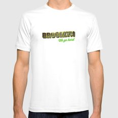 Brooklyn White SMALL Mens Fitted Tee