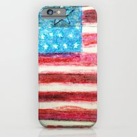 iPhone Cases featuring American Flag by Brontosaurus