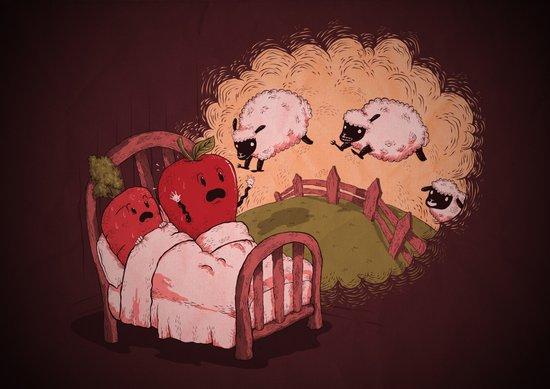 sleepsheep (counting them doesn't always help) Art Print