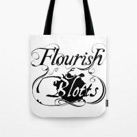 Flourish & Blotts Of Dia… Tote Bag