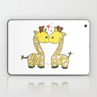 Giraffes In Love Laptop & iPad Skin