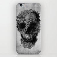Skull 2 / BW iPhone & iPod Skin