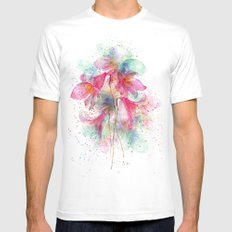 Waterfalls SMALL White Mens Fitted Tee