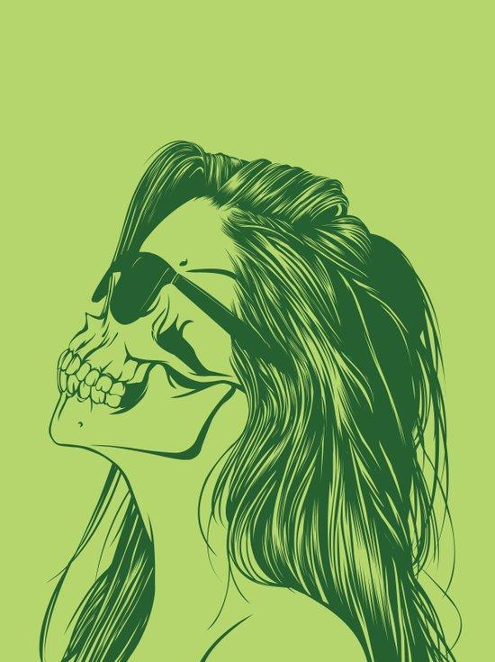Skull Girl 2 Canvas Print