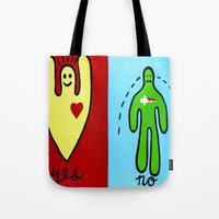 Yes/No Tote Bag