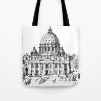 Basilica di S. Pietro a Roma Tote Bag